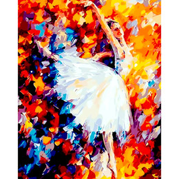 Dance Paintings Australia - Rhinestone Diamond Embroidery Dancing Women Diy 5d Diamonds Painting Cross Stitch Ballerina Girl Mosaic Embroidery Pattern Free shipping