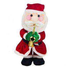 Presentes criativos elétrica Papai Noel Dolls Natal Cantando Dança Lighting Música boneca brinquedos para as crianças Xmas em Promoção