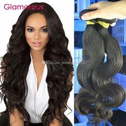 $enCountryForm.capitalKeyWord Canada - Glamorous Hair Products Body Wave Human Hair Weave 3 Pieces Raw Unprocessed Virgin Brazilian Indian Malaysian Peruvian Hair Bundles 100g pcs