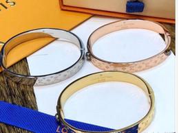 Beaded crystal Bags online shopping - Brand Gold Bracelet Bangle For Women Best Quality Designer stainless Steel Silver bracelets with brand bag