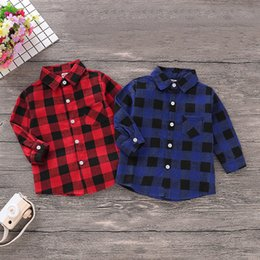 Toptan satış Çocuklar Gömlek Modelleri Erkek Bebek Yaka Çocuk Eğlence Kıyafetler Giyim Bebek Erkek Bebek Sonbahar Sıcak Coat 06 Tops
