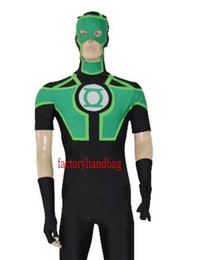 Wholesale superhero suits for sale - Group buy New color Black Ahd Green Lantern Short Sleeves Superhero Costume Halloween Party Cosplay Zentai Suit