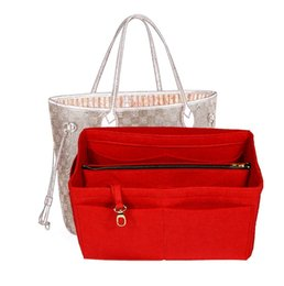 Wholesale Customizable Felt Tote Organizer w detachable Compartments Neverfull Mm Gm Pm Speedy Purse Insert Diaper Bag Y19052501