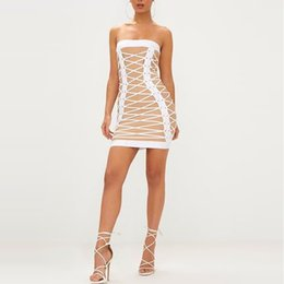 0bb937eaff 2019 spring and summer explosions halter straps hip skirt Europe and  America sexy nightclub women s tube top dress
