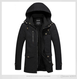 Wholesale mens wool coat for sale - Group buy Mens Winter Fashion Warm Jackets Coats Thick Fur Wool Liner Warm Jackets Outerwear Mens Clothing Hommes Solid Color Coats L XL