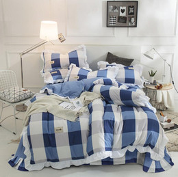 $enCountryForm.capitalKeyWord Australia - Twin-bed washed cotton four sets Korean modern style lace printing quilt sets bed sheet pillow wholesale