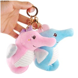 silicone toys for women Australia - 2 Styles 13CM Plush Keychain Toys Seahorse Stuffed Animal Cartoon Keyring Pendant For Backpack Women Key Holder Ornaments Gift