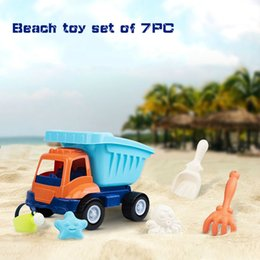 $enCountryForm.capitalKeyWord Australia - 2019 hot sell Summer beach dredger parent-child playing sand water tools 7pc set for kids Smooth without barbs Small truck, watering can