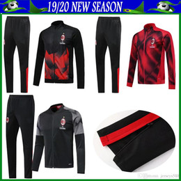 tracksuit milan UK - s-xxl AC milan tracksuit jacket 2019 2020 adult milan jacket and pants men tracksuit suit