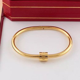 $enCountryForm.capitalKeyWord Australia - 2019 hot sale high quality silver gold rose gold cheap Bangle bracelet chians with diamond lovers gifts with box and dastbag