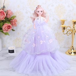 Best girl wedding dresses online shopping - 18in Girls Princess Wedding Dress Noble Party Gown Doll Accessories Fashion Design Outfit Best Gift Girl Baby Toys Decoration