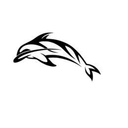 Discount dolphin stickers - Dolphin Decal Cute And Interesting Fashion Sticker Decals Vinyl Car Wrap Rear Window Car Sticker