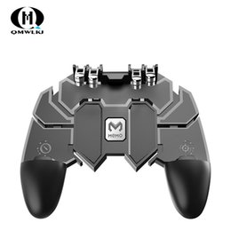 mobile controller 2019 - AK66 Six Finger All-in-One Pubg Mobile Controller Gamepad Pubg Mobile Trigger L1R1 Shooter Joystick Game Pad For IOS And