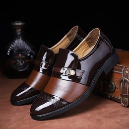 d1af9a228ce 2019 new arrival Man Flat Classic Men Dress Shoes Winklepickers Carved  Italian Formal Oxford Wing tip Plus Size For PU Business Shoes