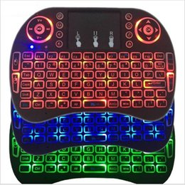 bluetooth keyboard mouse rii mini NZ - Rii Mini i8 Wireless Keyboard Bluetooth Keyboards Touchpad game Fly Air Mouse Remote Control Multi-media Handheld with retail