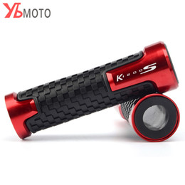high quality grip rubber UK - Motorcycle CNC Aluminum+Rubber Handlebar Handle Bar Grips Aluminum&anti-Slip For K1200S Accessories High quality