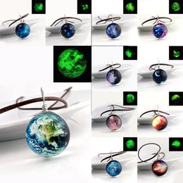 $enCountryForm.capitalKeyWord Australia - Fashion Starry Outer space Universe Gemstone necklaces Glow In The Dark Glass nebula ball pendant necklace For Women Men s Jewelry