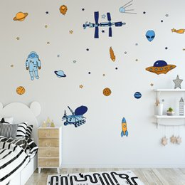 $enCountryForm.capitalKeyWord Australia - DIY Outer Space Wall Sticker Vinyl Rocket Spaceship Planets UFO Alien Wall Art Kids Room Wall Decal