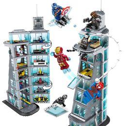 $enCountryForm.capitalKeyWord Australia - 7th Floor Building Superheroes Ironman Marvel Avenger Tower Fit Legoings Avengers Gift Building Block Bricks Educational ToyMX190820