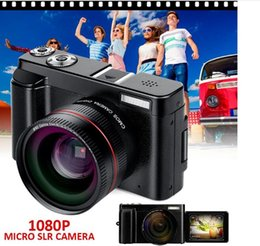 Stick Cameras Australia - 2019 new 24MP HD Half-DSLR Professional Digital Cameras with 4x Telephoto, Fisheye & Wide Angle Lens Camera Macro HD Camera
