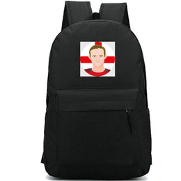 School Picture UK - Wayne Rooney backpack Strong man picture school bag Football fans print daypack Soccer game schoolbag Outdoor rucksack Sport day pack