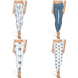 Dallas Cowboys Achieve Cierre elástico Pantalones de yoga Fitness Deportes algodón verano Legging Logo negro logo blanco Sombreado azul gris marrón en venta