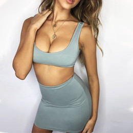 $enCountryForm.capitalKeyWord Australia - Hot Sale Summer Dress Sexy Female Cotton Party Tops with Skirts Set Short Women 2 Piece Outfits for Women Ensemble Femme