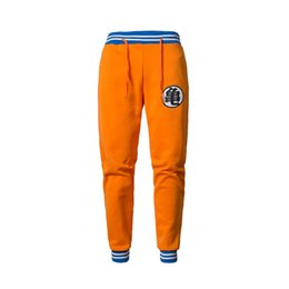 grey casual trousers UK - Anime Dragon Ball Z Goku Sweatpants Casual Exercise Trousers Men Q190514