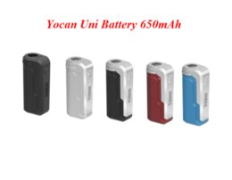 color box mod Australia - Yocan UNI Box Mod 650mAh Preheat VV Variable Voltage Battery With Magnetic 510 Adapter For Thick Oil Cartridge 10 color shipping fast