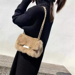 ladies fur handbags Australia - New Fashion ladies handbag shoulder bags women small messenger bags ladies fur design handbag with female crossbody bag