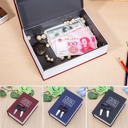 Box Jewelry Storage Organizer Black Australia - Mini Home Security Dictionary Book Safe Cash Jewelry Storage Key Lock Box Hot
