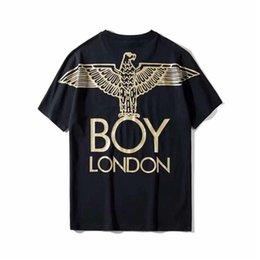 Boy London White Shirt Australia - 2019 Summer BOY London boy bronzing Eagle menswear couple casual women loose short sleeve T-shirt