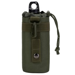 water bottles for boys UK - Tactical Molle Water Bottle Pouch Upgraded Travel Water Bottle Holder Bag Outdoor Hydration Carrier for Camping Hiking