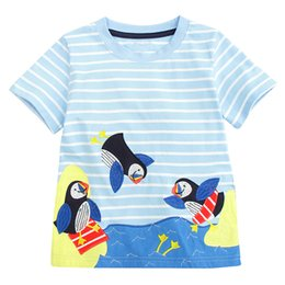 $enCountryForm.capitalKeyWord Australia - Boys T Shirts Children Clothing 2019 Brand Baby Boys Summer Tops Animal Applique Kids Tee Shirt Fille Toddler Boys Clothes