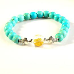 $enCountryForm.capitalKeyWord Canada - Six-word Mantra Buddhist Gemstone Bracelet Crystal Plus Alloy Fish Men and women Religious Bracelet