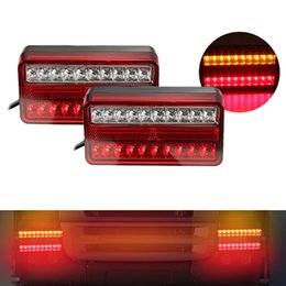 car campers 2019 - 20Led Tail Light 12V Waterproof Turn Signal Truck Brake Brake Light for Cars,Trucks,Trailers,Campers cheap car campers