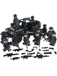 swat blocks NZ - Military Special Forces Soldiers Bricks Figures Guns car Weapons Compatible Armed SWAT Building Blocks Toys