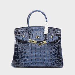 35 cm 30 cm Venda Quente Clássico de Luxo Duro Crocodilo Sacos de Osso Mulheres Casuais Totes Famosa Marca de Couro Real Ombro Mensageiro Sacos de Senhora bolsa em Promoção