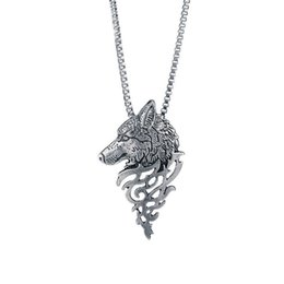 Wholesale Vintage Jewelry Zinc Alloy Australia - Fashionable Vintage Male Trendy Alloy Wolf Head Necklaces New Link Chain Shellhard Zinc Alloy Necklace Jewelry for Men