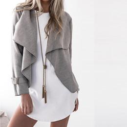 $enCountryForm.capitalKeyWord Australia - 2018 Autumn Spring Women Regular Coat Fashion Open Stitch Turn-Down Collar Jacket Outwear For Womens Clothing