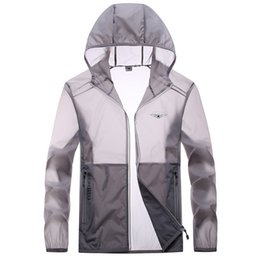 Wholesale outdoor leisure sport coats resale online – Men s Outdoor Sports Leisure Skin Clothing Sun Protection Hiking Breathable Ultrathin Ultralight Quick Drying Fishing Coat xl