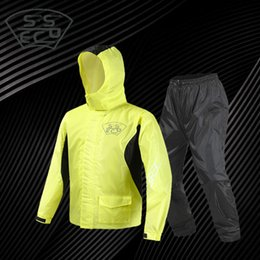 motorcycles rain suit Australia - 2019 New Brand Motorcycle Raincoat Light Waterproof Rain Coat Suit Mens Camping Rainwear Suit Off-Road Road Driver Jacket Cover