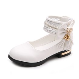 $enCountryForm.capitalKeyWord NZ - Girls Shoes For Party Wedding Butterfly-Knot Tassel Princess Leather Shoes Big Kids 2019 4 5 6 7 8 9 10 11 12 Year Old