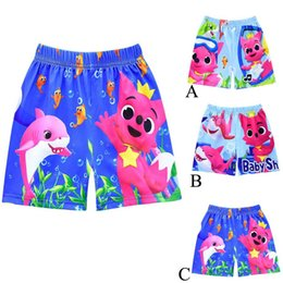 Letter Board Wholesale NZ - 2019 Boys Designer Swim Trunks Baby Shark Board Shorts Cartoon Swimwear 3 design short beach pants Shark Baby Swimming Pants C33