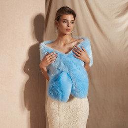 $enCountryForm.capitalKeyWord Australia - CMS18096 Wedding stole fur, Sky Blue faux fur wrap, shrugs boleros wraps Evening Scarves Shawls Women Jacket Prom Evening Party