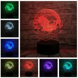 Bedroom Night Lamp NZ - 7 Colorful USB Cute Unicorn in Rainbow Cloud 3D Illusion Lamp Household Bedroom Office LED Table Lamp Child Night Lights Christmas Toy Gifts