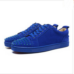 $enCountryForm.capitalKeyWord UK - wholesale Best Designer Sneakers Famous Brand Red Bottom designer Mens Luxury spike shoes Genuine Leather,White Spiked Toe Flats 09