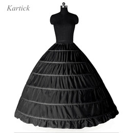 $enCountryForm.capitalKeyWord Australia - Large Petticoats For Adult Wedding Formal Dress Black White 6 hoops Ball Gown Big Underskirt In Stock Plus Size Puffy