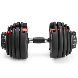 Wholesale NEW Weight Adjustable Dumbbell 5-52.5lbs Fitness Workouts Dumbbells tone your strength and build your muscles