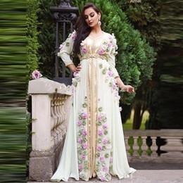 $enCountryForm.capitalKeyWord Australia - Formal Arabic Middle East Evening Dresses with Handmade Flowers A Line Robe Dubai Turkish Moroccan Prom Evening Gowns